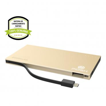 Carregador Portátil Power Bank Metal 5000mah Posh PBD5S
